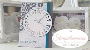 herrenkarte uhr marianne design tim holtz stampin u0027 up youtube