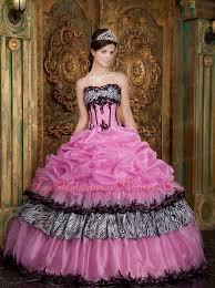 quinceanera pink dresses pink zebra up quinceanera dress