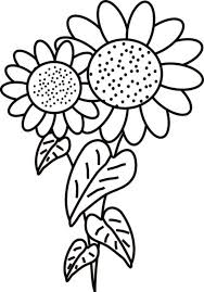 Fancy Sunflower Coloring Page Download Print Online Coloring Sunflower Coloring Page