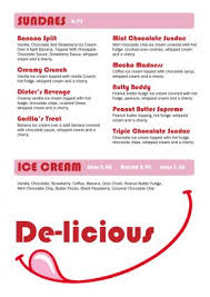 cream menu template 001