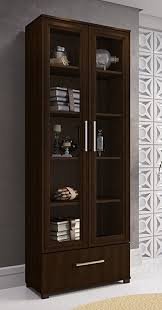 2 Shelf Bookcase With Doors Amazon Com Manhattan Comfort Serra 1 0 Bookcase Collection Modern