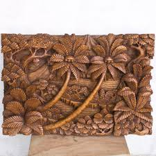 Home Decor Bali Relief Garuda Fenix Hand Carved Wood Panel Home Decoration From Bali