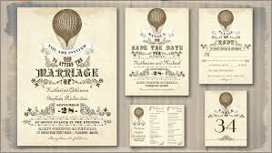 vintage wedding programs read more unique typography vintage hot air balloon wedding