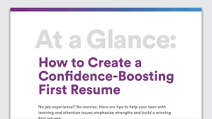 How To Make Resume With No Job Experience by How To Write Your First Resume Resume Writing Tips For Teens