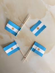 2017 mini argentina flag paper food picks dinner cake toothpicks