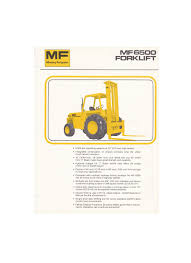 massey ferguson mf6500 fork lift specification sheet flynn u0027s