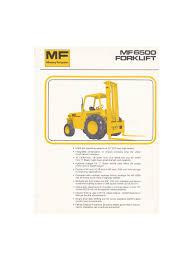 massey ferguson mf6500 fork lift specification sheet flynn u0027s