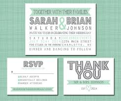 wedding invitations rsvp printable wedding suite invitation rsvp thank you by simplybrenna