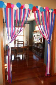 Home Party Decor Crepe Paper Roundup Balloon Ceiling Decorations Birthday