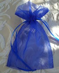 organza favor bags royal blue 4x6 organza favor bags