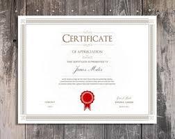 certificate etsy