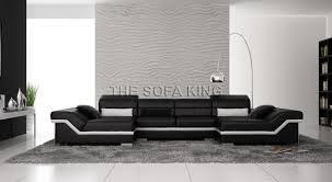 The Sofa Kings by D3309 C U Shape Modular Sofa Modern Leather Lounge 5 6 7 Seat