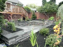 Backyard Landscaping Ideas Sloped Backyard Landscaping Ideas Landscape For Hilly