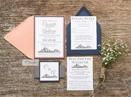 mountain wedding invitations mountain wedding invitation suite all that glitters