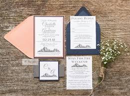 mountain wedding invitations mountain wedding invitation suite all that glitters