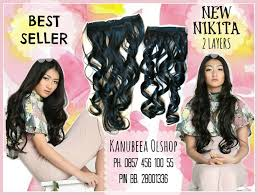 jual hair clip 9 best hair clip extension 2 layers bisa catok curling images on