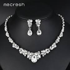 bridal necklace crystal images Mecresh silver color rhinestone bridal jewelry sets classic jpg
