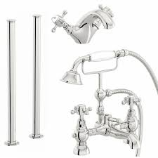 the bath co coniston basin and freestanding bath shower mixer tap bath shower mixer with standpipe pack click to zoom