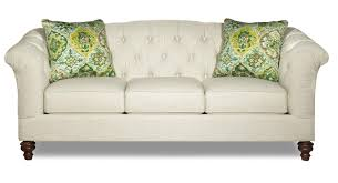 Button Tufted Sofa by Button Tufted Sofa With Flared And Pleated Arms By Craftmaster