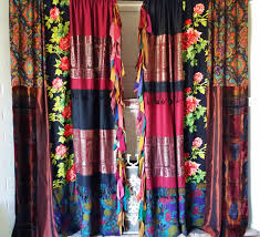 Hippie Curtains Curtains Gorgeous Design Of Boho Curtains For Lovely Home