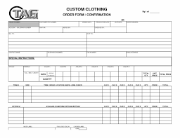items with this multifaceted these clothing order form template