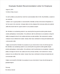 employer recommendation letter recommendation letter sample for