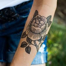 you temporary tattoo black rose