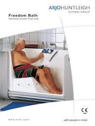 arjo freedom bath manual shower door