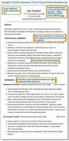 Kindergarten Teacher Resume Job Description by 45 Best Teacher Resumes Images On Pinterest Teaching Resume