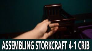 Storkcraft Portofino Convertible Crib And Changer Combo Espresso by 06172016 Assembling Storkcraft 4 1 Crib Vlog 910 Youtube