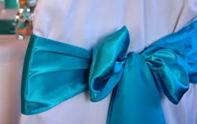 turquoise chair sashes satin chair sashes designer weddings