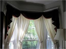 curtain ideas with double rods home windows design bow bay window curtains treatments rods curtain ideas with double