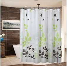 Multi Colored Curtains Contemporary Polyester Shower Curtains Multicolored Leaves