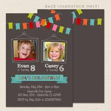 party invitations joint birthday party invitations lil sprout greetings
