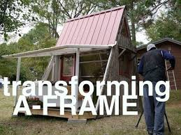 building an a frame cabin deek s transforming 1200 a frame cabin and plans tiny vacation