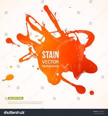 Orange Paint by Splatter Paint Banner Vector Illustration Orange Stock Vector
