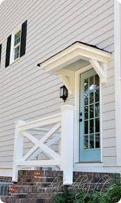 Front Door Awnings Wood Project Curb Appeal Porticos Curb Appeal Pinterest Curb