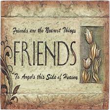cement wall plaque friends are the nearest plqc 25 12 99
