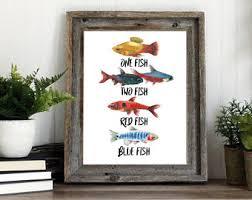 Fish Nursery Decor Script Type Etsy