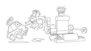 lego juniors lightning mcqueen and mater coloring page coloring