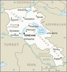 armenia on world map the world factbook central intelligence agency
