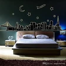 glow in the dark nyc new york skyline wall stickers decal luminous