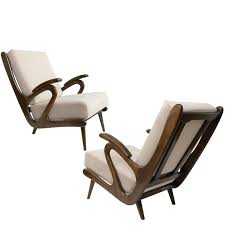 Dutch Modern Furniture by Dutch Mid Century Modern Pair Of B Spuij U0027s Carved Lounge Chairs
