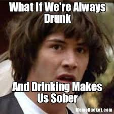 Makes Memes - drunk meme what if were always drunk and drinking makes us sober