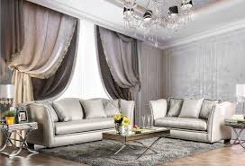 Silver Living Room by Alessandra Silver Living Room Set From Furniture Of America