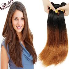 ombre weave wave ombre hair weave 3pcs two tone highlighted