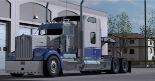 kenworth w900 specs kenworth w900 blue u0026 gray truck skin mod ats mod american