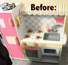 Kitchen Make Over Ideas by The Rosy Life Diy Play Kitchen Makeover