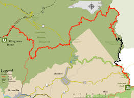 Great Smoky Mountains National Park Map Segment 1a Mountains To Sea Trail