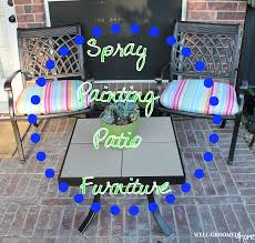 Refinish Iron Patio Furniture by Painting Patio Furniture Well Groomed Home